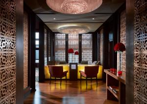The lobby or reception area at Gran Melia Jakarta
