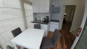 A kitchen or kitchenette at Apartment Jesse-Darmstadt