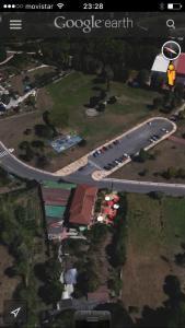 Blick auf Hotel Rural Las Palmeras Muskiz aus der Vogelperspektive