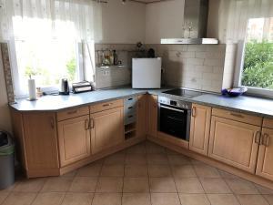 Küche/Küchenzeile in der Unterkunft Ferienwohnung Familie Ober