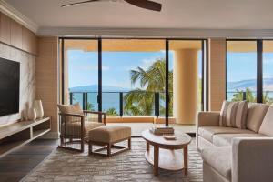 A seating area at Four Seasons Resort Maui at Wailea