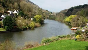 View of a river running close to the country house