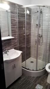 A bathroom at Apartament Aosta Sinaia