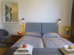 Łóżko lub łóżka w pokoju w obiekcie Pokoje Gościnne Poselska 20