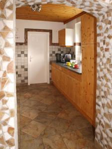 Küche/Küchenzeile in der Unterkunft Brennseeblick