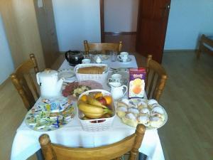 Možnosti snídaně pro hosty v ubytování Apartments Ana