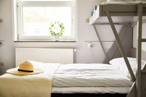 Ein Bett oder Betten in einem Zimmer der Unterkunft Danhostel Tønder