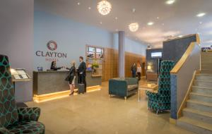 The lobby or reception area at Clayton Hotel Cardiff Lane