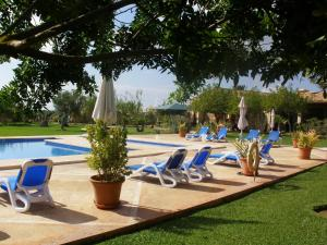 The swimming pool at or near Agroturisme Na Martina