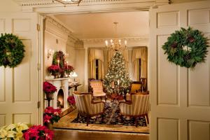A seating area at The Sayre Mansion