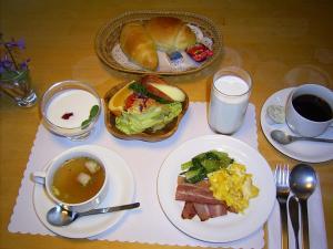 ペンションあしたの森で提供されている朝食