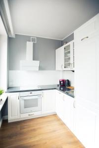 Kuchnia lub aneks kuchenny w obiekcie Apartament Młyńska
