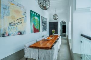 Dining area at the riad