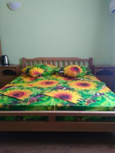 Кровать или кровати в номере Domik u Morya Guest House