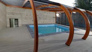 The swimming pool at or near Domaine de Malouziès