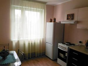 A kitchen or kitchenette at Apartments at Ovchinnikova 33a