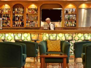 The lounge or bar area at TURIM Lisboa Hotel