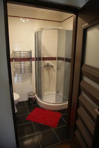 A bathroom at Noclegi Prestige