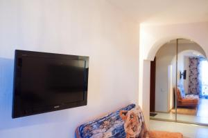 A television and/or entertainment center at Apartment in the Center on Maslennikova 72