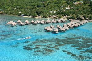 A bird's-eye view of Sofitel Kia Ora Moorea Beach Resort