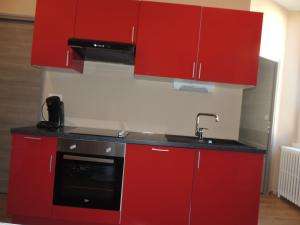 A kitchen or kitchenette at Appartement Saint-Amour