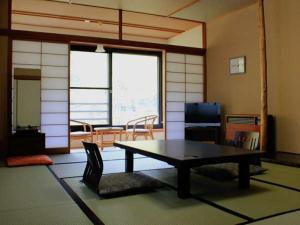 A seating area at Takaragawa Onsen Ousenkaku