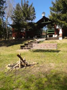 Ogród w obiekcie Domek Letniskowy Soszyca