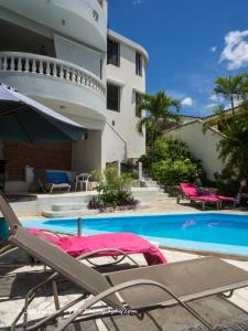 The swimming pool at or close to Chambres d´hotes La Romana