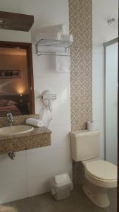 A bathroom at Hotel Recanto