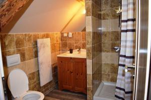 Koupelna v ubytování Hrazdeny statek Mytinka