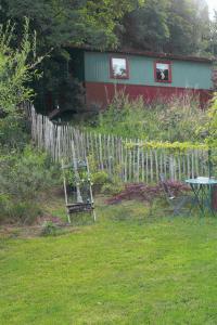 A garden outside Gipsy Caravan