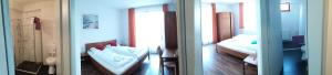 Кровать или кровати в номере Baláca Panzió