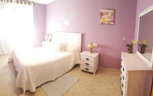 Cama o camas de una habitación en Apartamentos Andrea