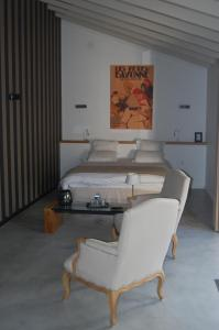 A bed or beds in a room at Chambres d'Hôtes Antzika