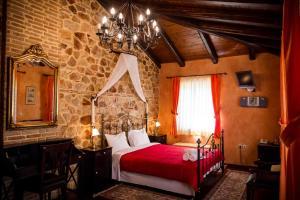 Ένα ή περισσότερα κρεβάτια σε δωμάτιο στο Acronafplia Pension A