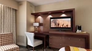 A television and/or entertainment center at Seven Clans Hotel at Coushatta