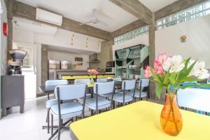 A kitchen or kitchenette at Brick Hostel