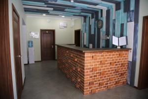 The lobby or reception area at Hotel Chaika