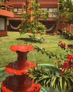 A garden outside Naquela Jericoacoara
