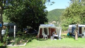 A garden outside Camping Matyáš