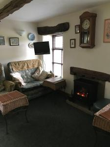 A seating area at Middle Flass Lodge