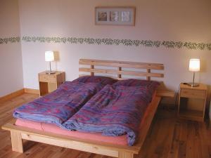 Postel nebo postele na pokoji v ubytování Gîte Périssé