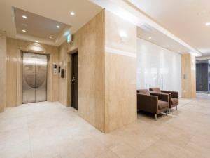 The lobby or reception area at HOTEL MYSTAYS Sapporo Nakajima Park Annex