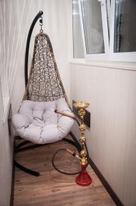 A seating area at Apartment on Lesnaya