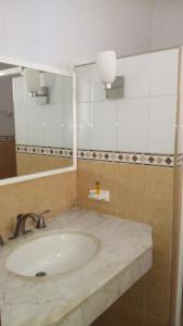 A bathroom at Hotel Aaktun Kay