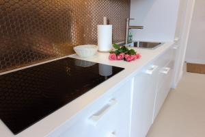 Kuchnia lub aneks kuchenny w obiekcie Komfortowy apartament Międzyzdroje