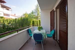 A balcony or terrace at Apartments Neda