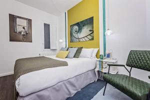 Cama ou camas em um quarto em Sweet Inn - Fort Pienc