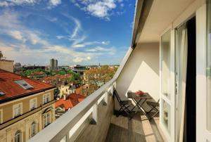 Un balcón o terraza de Ametyst Hotel Praha
