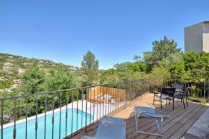 A balcony or terrace at Villa Roca